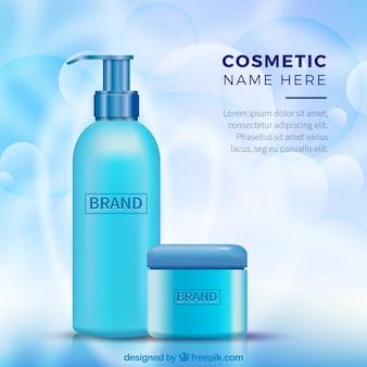 Achtergrond van twee realistische cosmetische producten