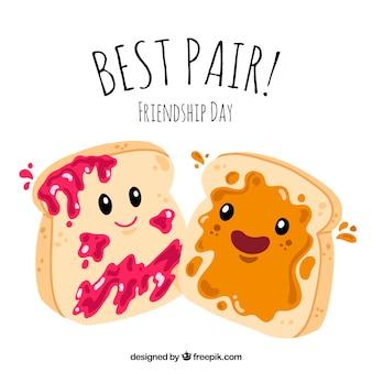 Achtergrond van vriendschap dag toast