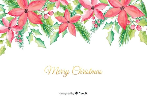 Achtergrond van waterverf de vrolijke kerstmis