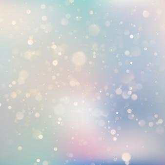 Achtergrond van zachte delicate blauw en paars pastel gekleurde glinsterende bokeh lichtreflecties.