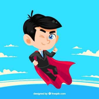 Achtergrond van zakenman met cape