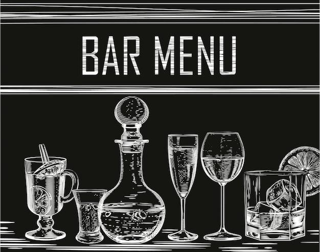 Achtergrond voor alcoholische producten