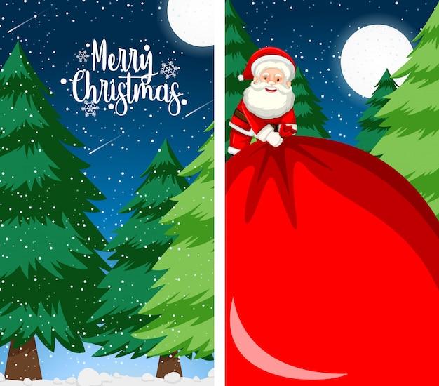 Achtergrond voor de vrolijke kaart van de kerstmisgroet