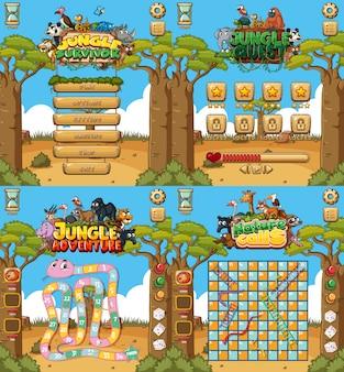 Achtergrond voor games met dieren en veld