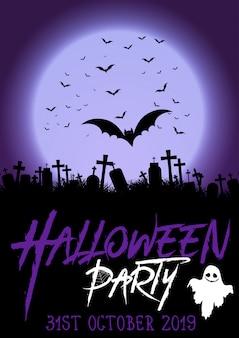 Achtergrond voor halloween-feestaffiche