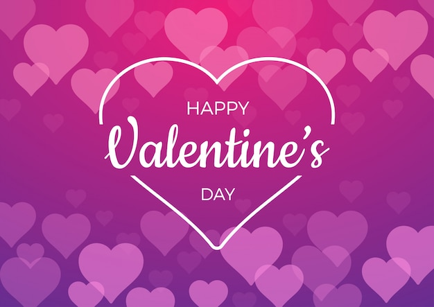Achtergrond voor valentijnsdag met roze harten