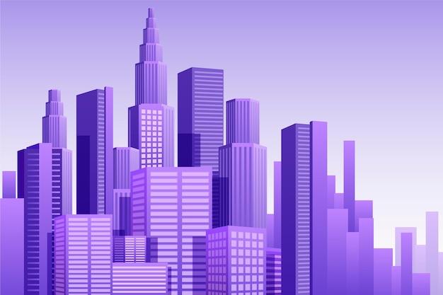 Achtergrond voor videoconferentie stedelijke stad