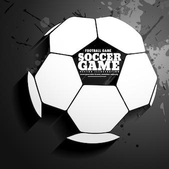 Achtergrond voor voetbalspel vector