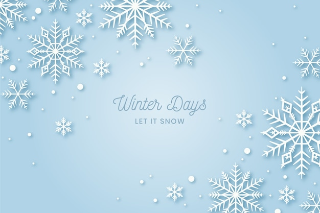 Achtergrond winter in plat ontwerp