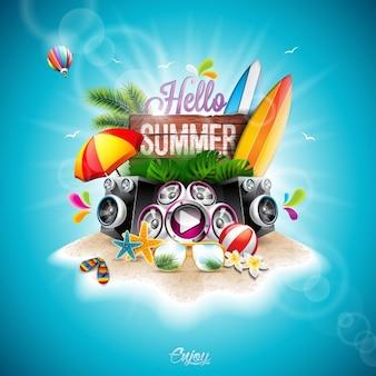 Achtergrond zomer ontwerp