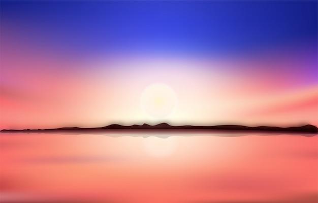 Achtergrond zonsondergang