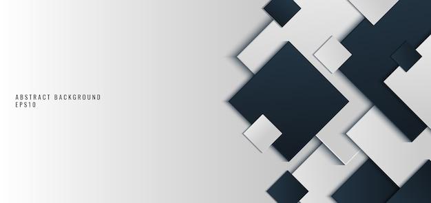 Achtergrond zwarte en grijze vierkante vorm