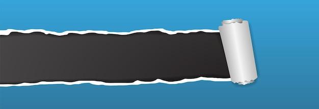 Achtergrondbanner van gescheurd papier voor reclame- en promotieontwerp. vector illustratie