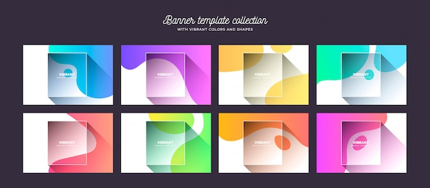 Achtergrondcollectie met levendige kleuren en vormen