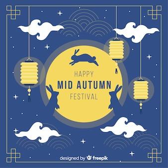 Achtergrondconcept voor het medio herfstfestival