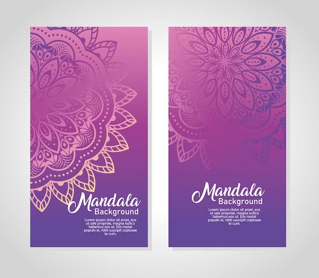 Achtergronden instellen luxe mandala's, decoratieve en elegante mandala's, sier
