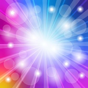 Achtergrondkleur met magisch licht bokeheffect