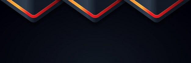 Achtergrondlicht met abstracte kleuren moderne banner