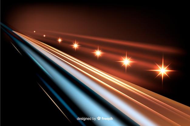 Achtergrondlichten volgen hoge snelheid