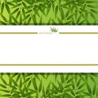 Achtergrondmalplaatje met bamboebladeren