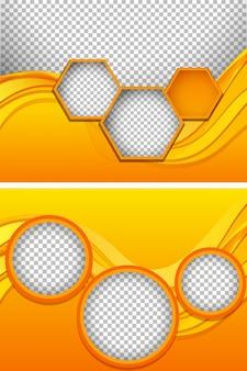Achtergrondmalplaatje met gele patronen