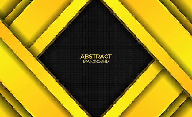 Achtergrondontwerp gradiënt heldere gele abstracte stijl