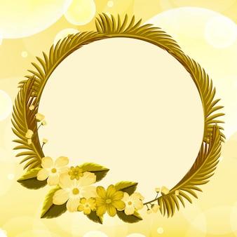 Achtergrondontwerp met gele bloemen