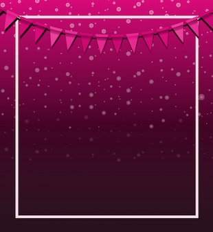 Achtergrondontwerp met roze vlaggen