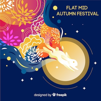 Achtergrondontwerp voor midden de herfstfestival