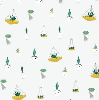 Achtergrondpatroon met terarium