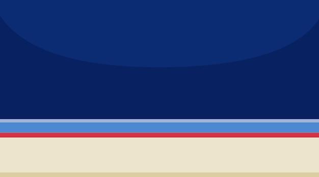 Achtergrondscène van lege ruimte met blauwe muur