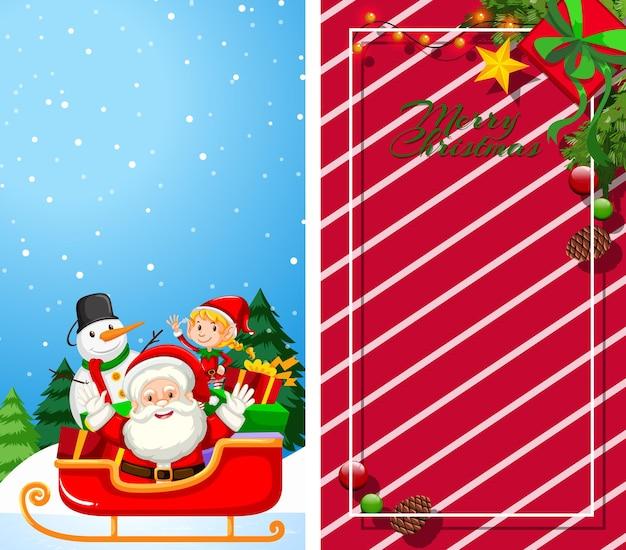 Achtergrondsjablonen met kerstthema