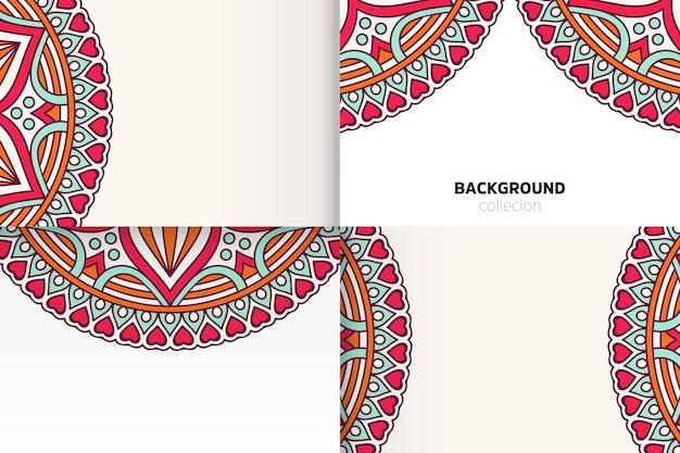 Achtergrondsjabloon in etnische stijl Gratis Vector