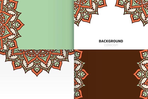 Achtergrondsjabloon in etnische stijl