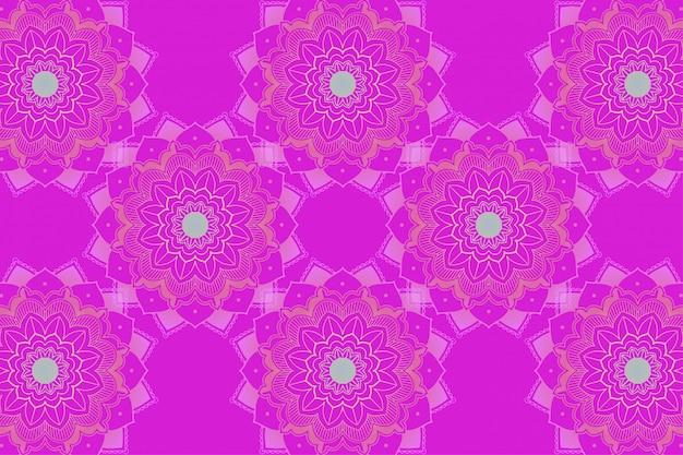 Achtergrondsjabloon met mandala-ontwerpen