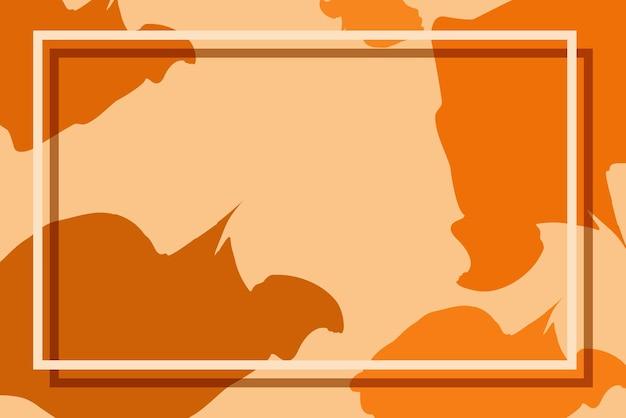 Achtergrondsjabloon met oranje patroonontwerpen