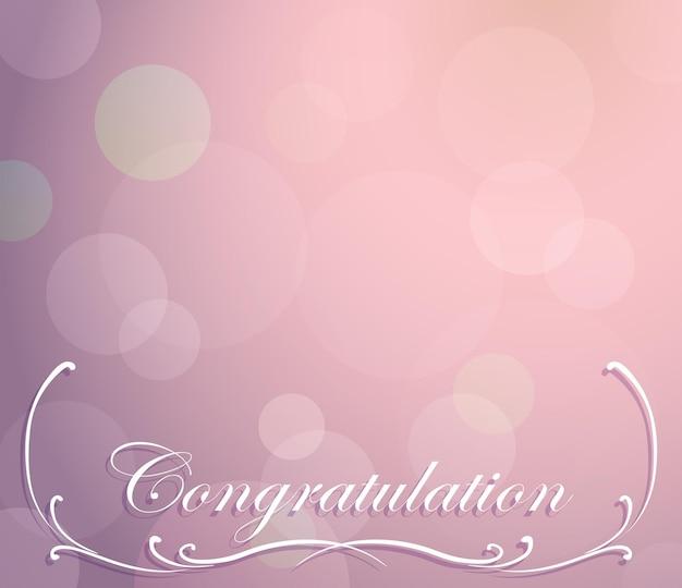 Achtergrondsjabloon voor felicitatie