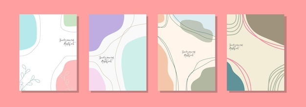 Achtergrondsjabloon voor sociale media, abstract ontwerp en pastelkleuren Premium Vector