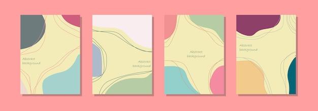 Achtergrondsjabloon voor sociale media, abstract ontwerp en pastelkleuren
