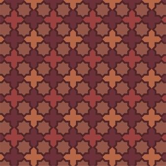 Achthoekig patroon bruin