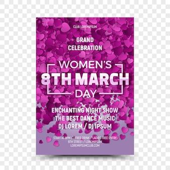 Achtste maart women's day celebration flyer