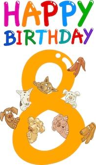 Achtste verjaardag verjaardag ontwerp