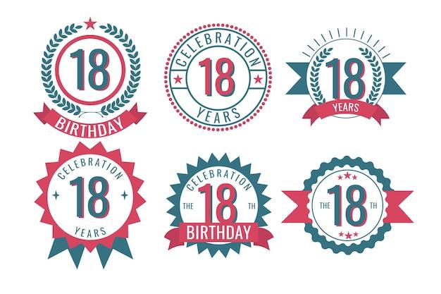 Achttiende verjaardag badges