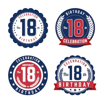 Achttiende verjaardagsbadges