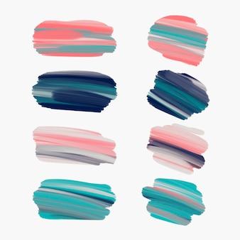 Acryl penseelstreekcollectie