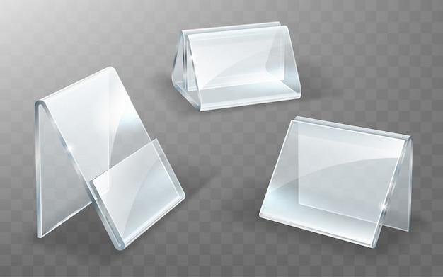 Acrylhouder, glazen of plastic displaystandaard
