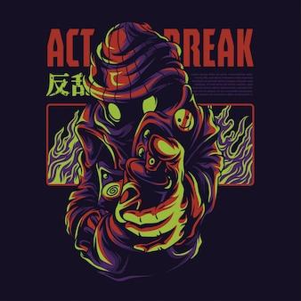 Act break illustratie