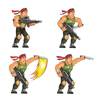 Actie commando spelkarakter animatie sprite