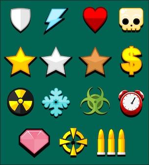 Actie spel iconen