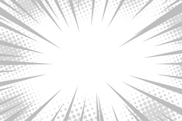 Actie strip cartoon snelheid effect zwart manga beweging anime manga flash superheld beweging radiale lijn vector boom stralen macht halftoon knal behang